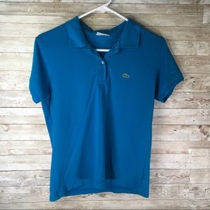Lacoste Polo Shirt Top Blue Size Small